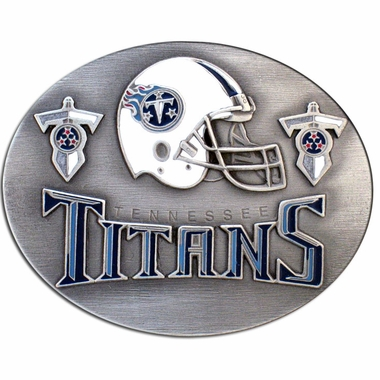 Tennessee Titans Enameled Belt Buckle