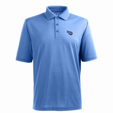 Tennessee Titans Mens Pique Xtra Lite Polo Shirt (Color: Aqua)