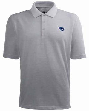 Tennessee Titans Mens Pique Xtra Lite Polo Shirt (Color: Gray)