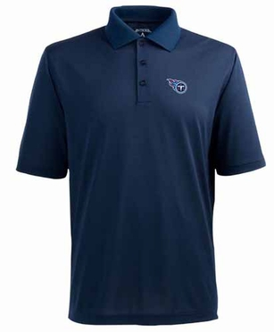 Tennessee Titans Mens Pique Xtra Lite Polo Shirt (Team Color: Navy)