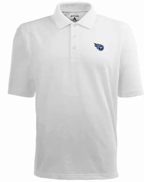 Tennessee Titans Mens Pique Xtra Lite Polo Shirt (Color: White)