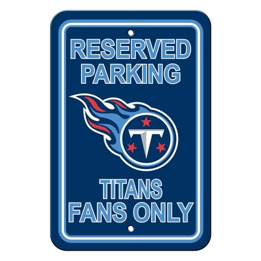Tennessee Titans Plastic Reserved Parking Sign (P)