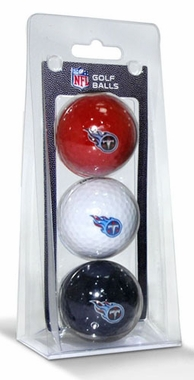 Tennessee Titans Set of 3 Multicolor Golf Balls
