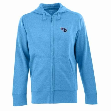 Tennessee Titans Mens Signature Full Zip Hooded Sweatshirt (Alternate Color: Aqua)