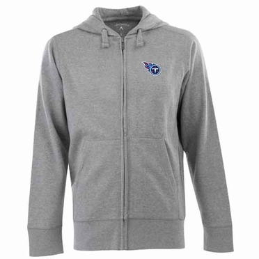 Tennessee Titans Mens Signature Full Zip Hooded Sweatshirt (Color: Gray)