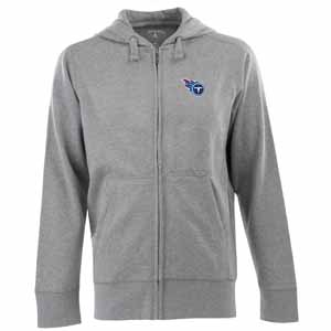 Tennessee Titans Mens Signature Full Zip Hooded Sweatshirt (Color: Gray) - Small