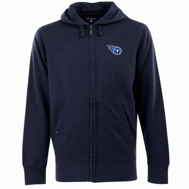 Tennessee Titans Mens Signature Full Zip Hooded Sweatshirt (Team Color: Navy)