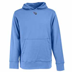 Tennessee Titans Mens Signature Hooded Sweatshirt (Alternate Color: Aqua) - Medium