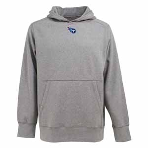 Tennessee Titans Mens Signature Hooded Sweatshirt (Color: Gray) - Large