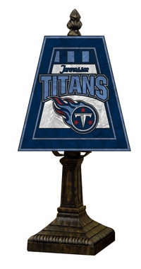 Tennessee Titans Small Art Glass Lamp
