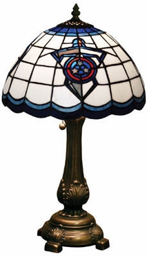 Tennessee Titans Stained Glass Table Lamp