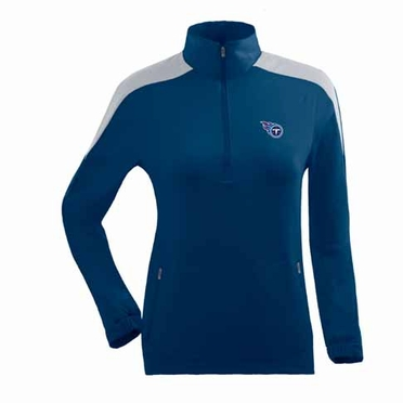 Tennessee Titans Womens Succeed 1/4 Zip Performance Pullover (Team Color: Navy)