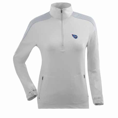Tennessee Titans Womens Succeed 1/4 Zip Performance Pullover (Color: White)