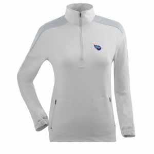 Tennessee Titans Womens Succeed 1/4 Zip Performance Pullover (Color: White) - Small