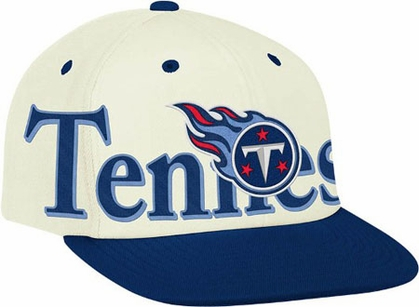 Tennessee Titans Team Name and Logo Snapback Hat