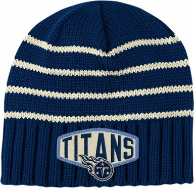 Tennessee Titans Throwback Felt Logo Cuffless Knit Hat