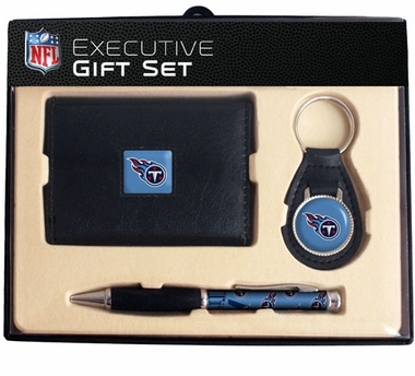 Tennessee Titans Trifold Wallet Key Fob and Pen Gift Set
