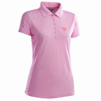 Tennessee Titans Womens Pique Xtra Lite Polo Shirt (Color: Pink)
