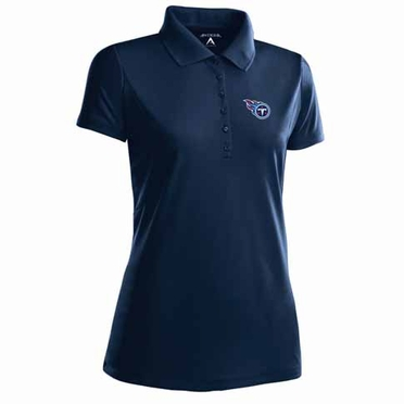 Tennessee Titans Womens Pique Xtra Lite Polo Shirt (Team Color: Navy)