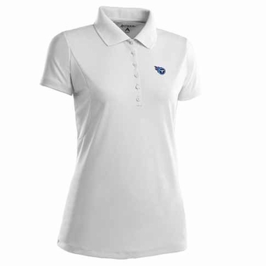 Tennessee Titans Womens Pique Xtra Lite Polo Shirt (Color: White)