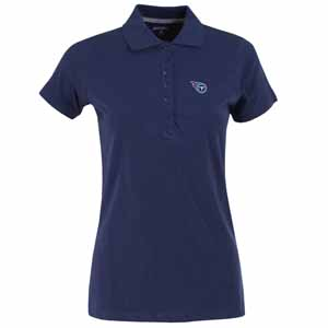Tennessee Titans Womens Spark Polo (Color: Navy) - Medium