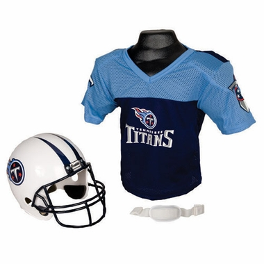 Tennessee Titans Youth Helmet and Jersey Set
