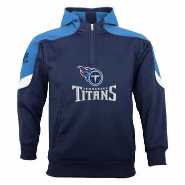 Tennessee Titans YOUTH Kick Off 1/4 Zip Performance Hoody