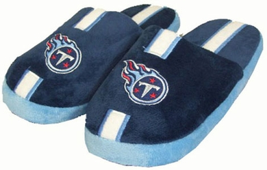 Tennessee Titans YOUTH Team Stripe Slide Slippers - Medium