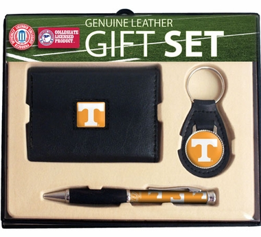 Tennessee Trifold Wallet Key Fob and Pen Gift Set