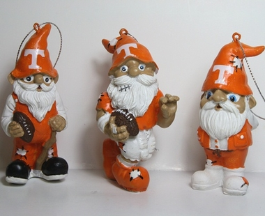 Tennessee Volunteers 2012 Gnome 3 Pack Ornament Set