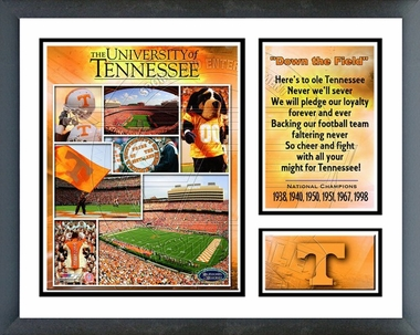 Tennessee Volunteers Framed Milestones & Memories