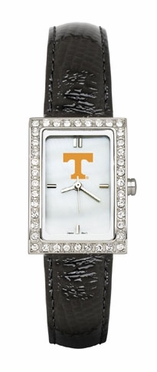 Tennessee Women's Black Leather Strap Allure Watch