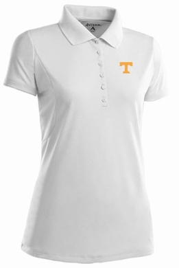 Tennessee Womens Pique Xtra Lite Polo Shirt (Color: White)