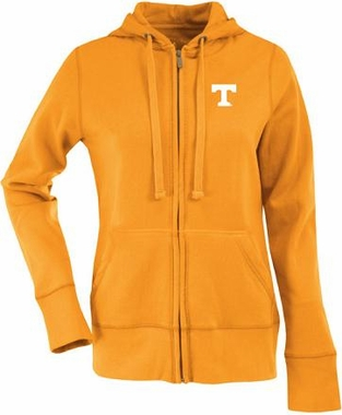 Tennessee Womens Zip Front Hoody Sweatshirt (Color: Orange)