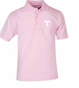 Tennessee YOUTH Unisex Pique Polo Shirt (Color: Pink) - Medium