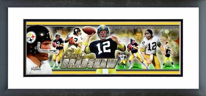 Terry Bradshaw Framed / Double Matted Photoramic