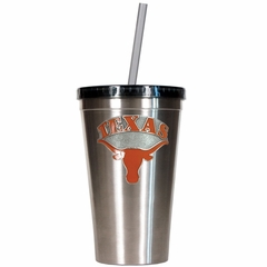 Texas 16oz Stainless Steel Insulated Tumbler with Straw