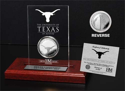 Texas Longhorns University of Texas 24KT Gold Coin Etched Acrylic