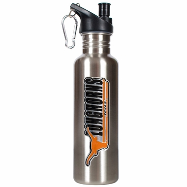 Texas 26oz Stainless Steel Water Bottle (Silver)