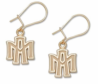 Texas A&M 14K Gold Post or Dangle Earrings