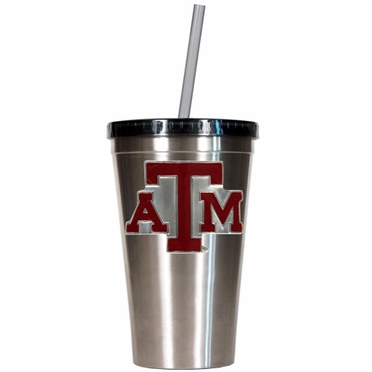 Texas A&M 16oz Stainless Steel Insulated Tumbler with Straw