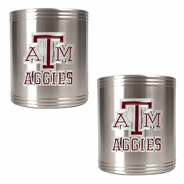 Texas A&M 2 Can Holder Set