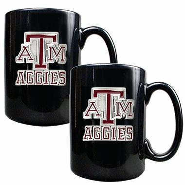 Texas A&M 2 Piece Coffee Mug Set