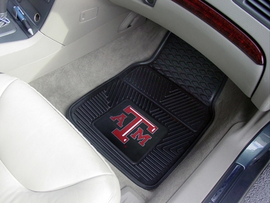 Texas A&M 2 Piece Heavy Duty Vinyl Car Mats