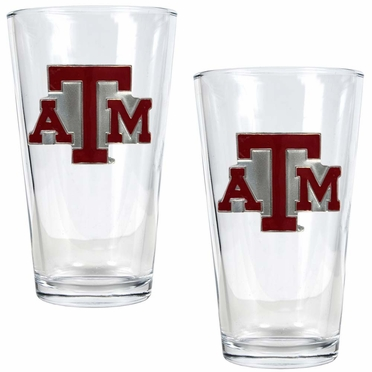 Texas A&M 2 Piece Pint Glass Set