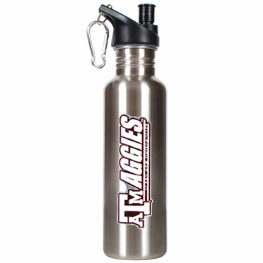 Texas A&M 26oz Stainless Steel Water Bottle (Silver)
