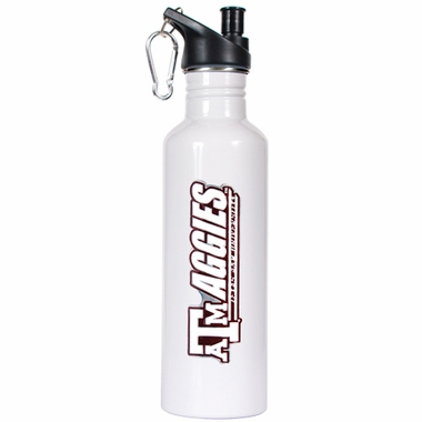 Texas A&M 26oz Stainless Steel Water Bottle (White)