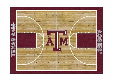 "Texas A&M 3'10"" x 5'4"" Premium Court Rug"