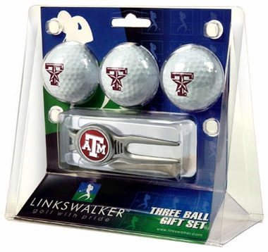 Texas A&M 3 Ball Gift Pack With Kool Tool