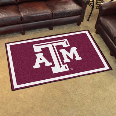 Texas A&M 4 Foot x 6 Foot Rug